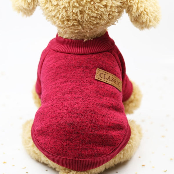 Classic Warm Dog Clothes For Small Dogs