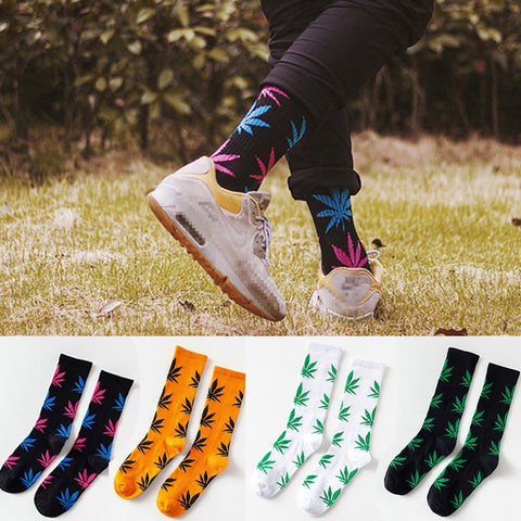Cool Bamboo Funny Ankle Socks Hemp Cotton Weed Grass