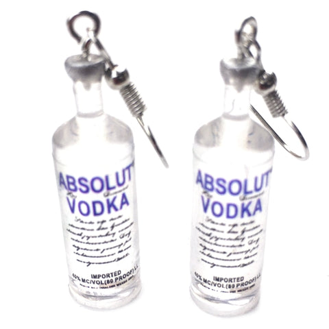Creative Cool Drop Earrings Drink Style Bottle