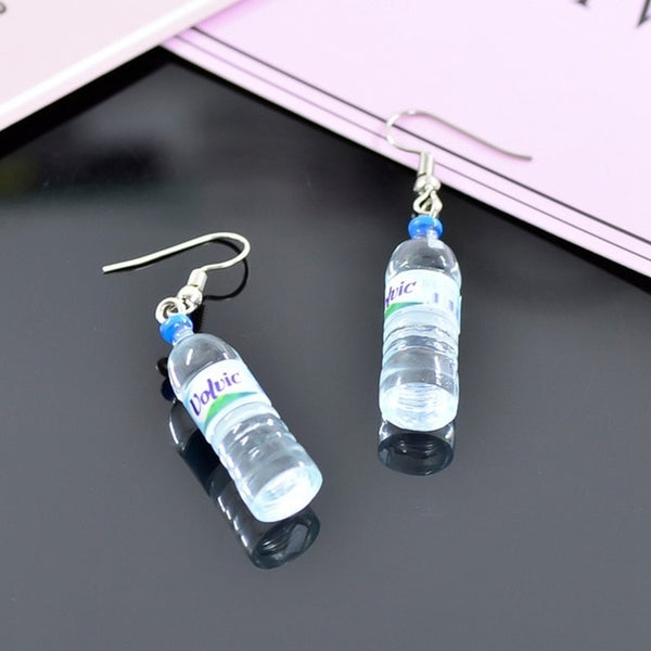 Creative Cool Drop Earrings Drink Style Bottle - AVstuff