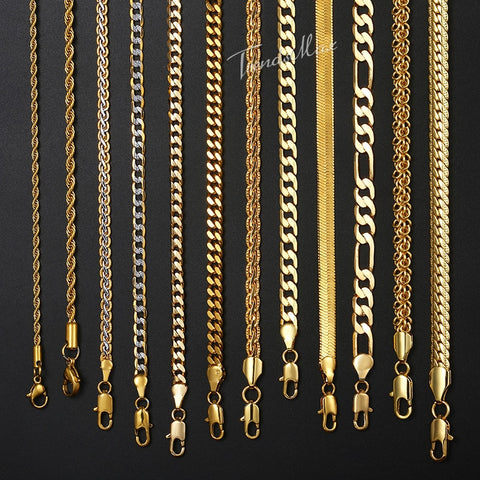 "Necklace Gold Filled Figaro Rope Snake Curb Cuban Link Chain 18-24"" GNN2"