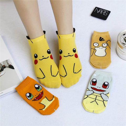 Cartoon Character Cute Short Socks Cute Ankle Socks Hipster Pokemon