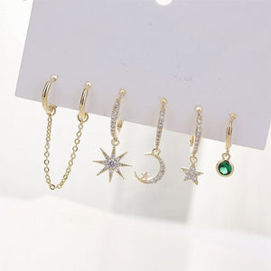 Trendy Star Moon Sets Drop Earrings