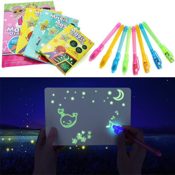 Drawing Board Tablet 1pc A4 A3 Led Luminous Magic Raw With Light-fun - AVstuff