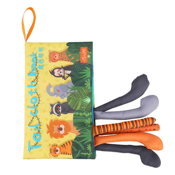 Educational Soft Animal Tails Toy Book - AVstuff