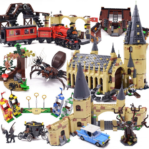 Harri movie 2 Castle Express Train Building Blocks House Bricks City Creator Action 75951 Toys Figure For Children - AVstuff