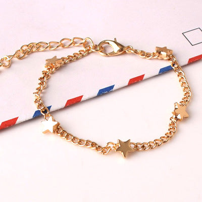 New Fashion Gold silver Moon Star Charms Bracelet - AVstuff