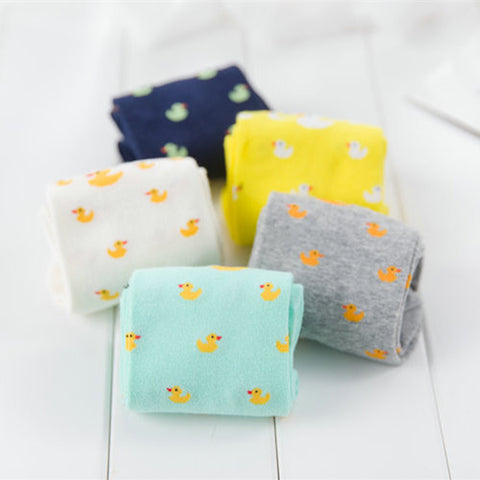 Cartoon Cute Animal Duck Patterned Short Socks
