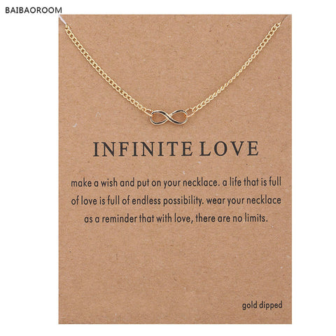 New Style Infinite-Love Necklace with card