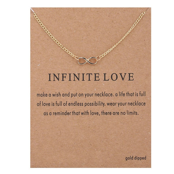 New Style Infinite-Love Necklace with card - AVstuff