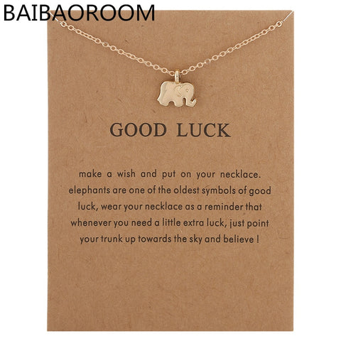New Arrived 3D Good Luck Elephant Alloy Pendant Necklace Jewelry