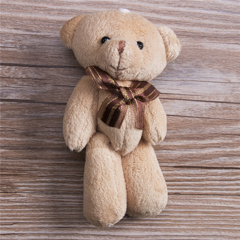 Lovely Plush Scarf Brown Teddy Bear - AVstuff