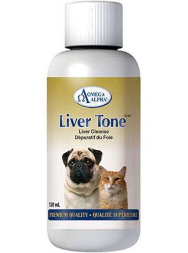 Omega Alpha Liver Tone | Liver Detoxification for Dogs & Cats | 120ml