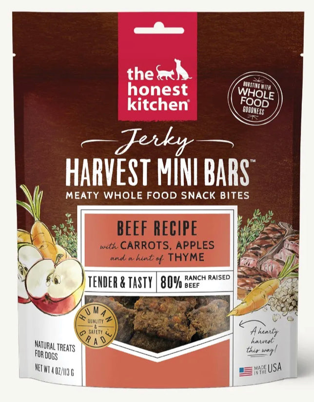 The Honest Kitchen Jerky Harvest Mini Bars 113g