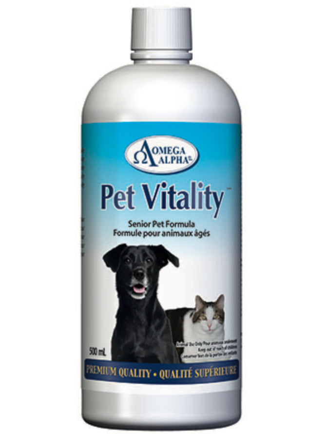 Omega Alpha Pet Vitality | Senior Pet Formula | 500ml