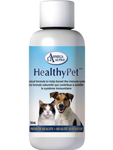 Omega Alpha Healthy Pet | Immune Support for Dogs & Cats | 120ml