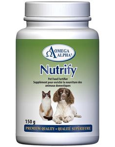Omega Alpha Nutrify | Pet Food Fortifier for Dogs & Cats | 300g