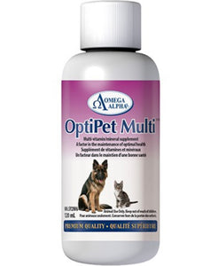 Omega Alpha OptiPet Multi | Vitamin & Mineral Supplement for Dogs & Cats | 120ml