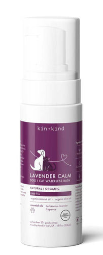 Kin + Kind Lavender Calm | Waterless Bath | For Dogs & Cats | 236ml