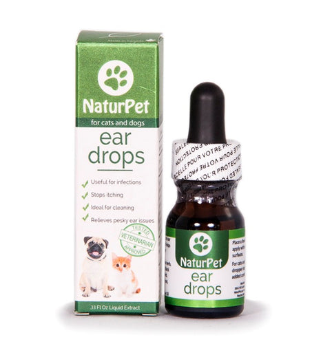 NaturPet Ear Drops | Natural Ear Infection & Pain Relief | 10ml