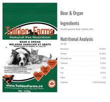 Load image into Gallery viewer, Tollden Farms Natural Pet Nutrition | Raw Food | 8lb (16 x 1/2lb)