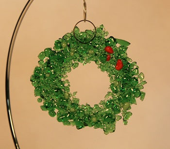 Fused Glass Wreath