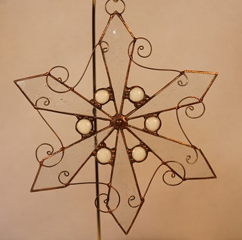 Snowflakes (Copper patina)