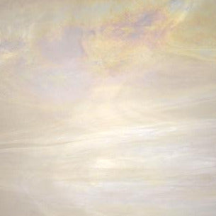 Wissmach White, clear wispy iridized