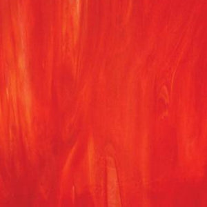 Wissmach Red-Orange, White Wispy