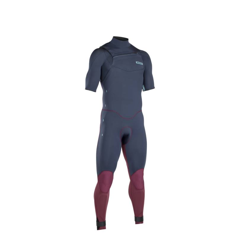 ION Wetsuit Strike Core Steamer SS 3/2 FZ DL -2019 -slate blue/red - NEW