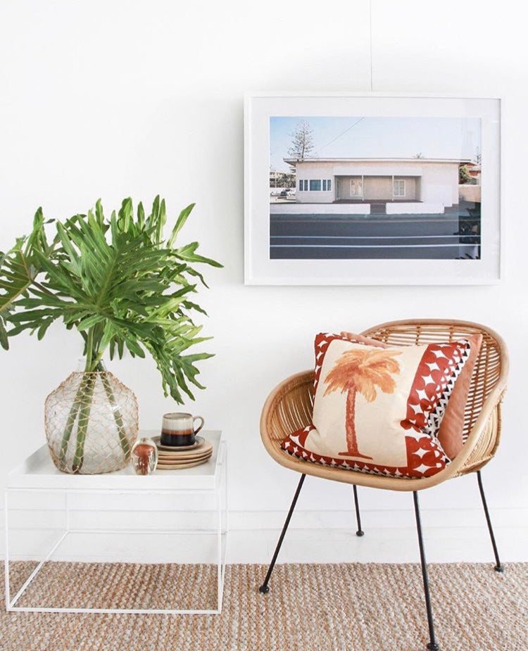"""A 1950's wood panelled house, painted cream colour with an Art Deco vintage style on a street"". Artwork, Prints, wallart, GoldCoast Queensland Australia, Photographic prints, Ocean Beach, Framed artwork, Beach Posters   Film photography, Vintage photo style,  Interior design, Film photography Pictures sun & surf,"