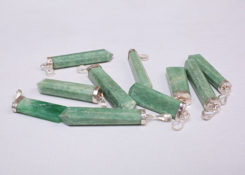 Grossular Green Garnet Pendants