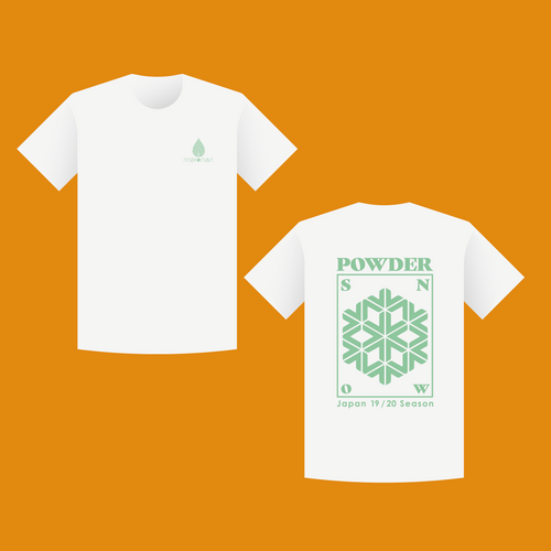 Powder Snow T-shirt (Short Sleeve 半袖)