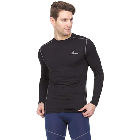 Athletic  Compression Shirt - Long Sleeve Set-In