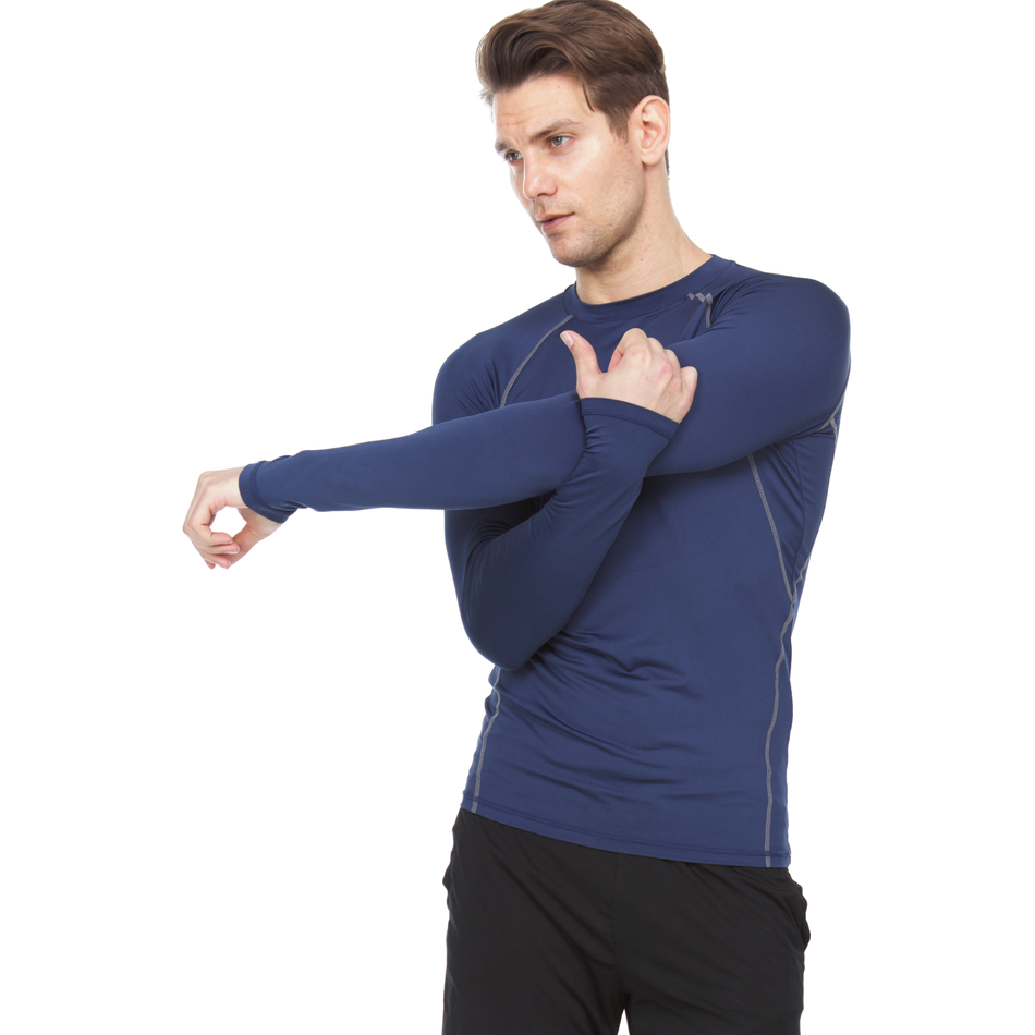 Athletic Compression Shirt - Long Sleeve Raglan