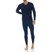 Men's Ultra Soft Thermal V-Neck Set