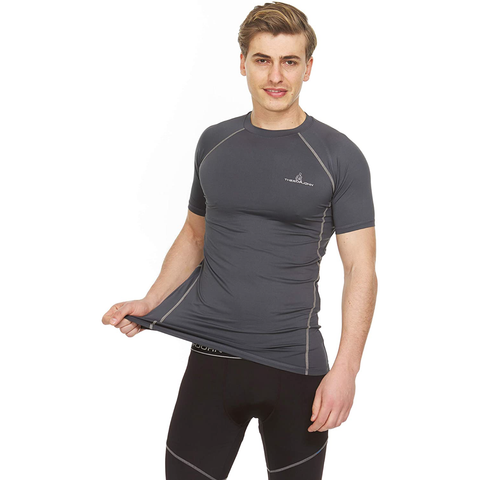 Athletic Compression Shirt - Short Sleeve Raglan