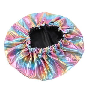 Tropical Fantasy Reversible Satin Bonnet
