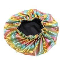 Load image into Gallery viewer, Tropical Fantasy Reversible Satin Bonnet