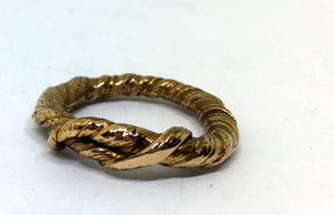 Bronze Twisted Vine Ring - Size 5