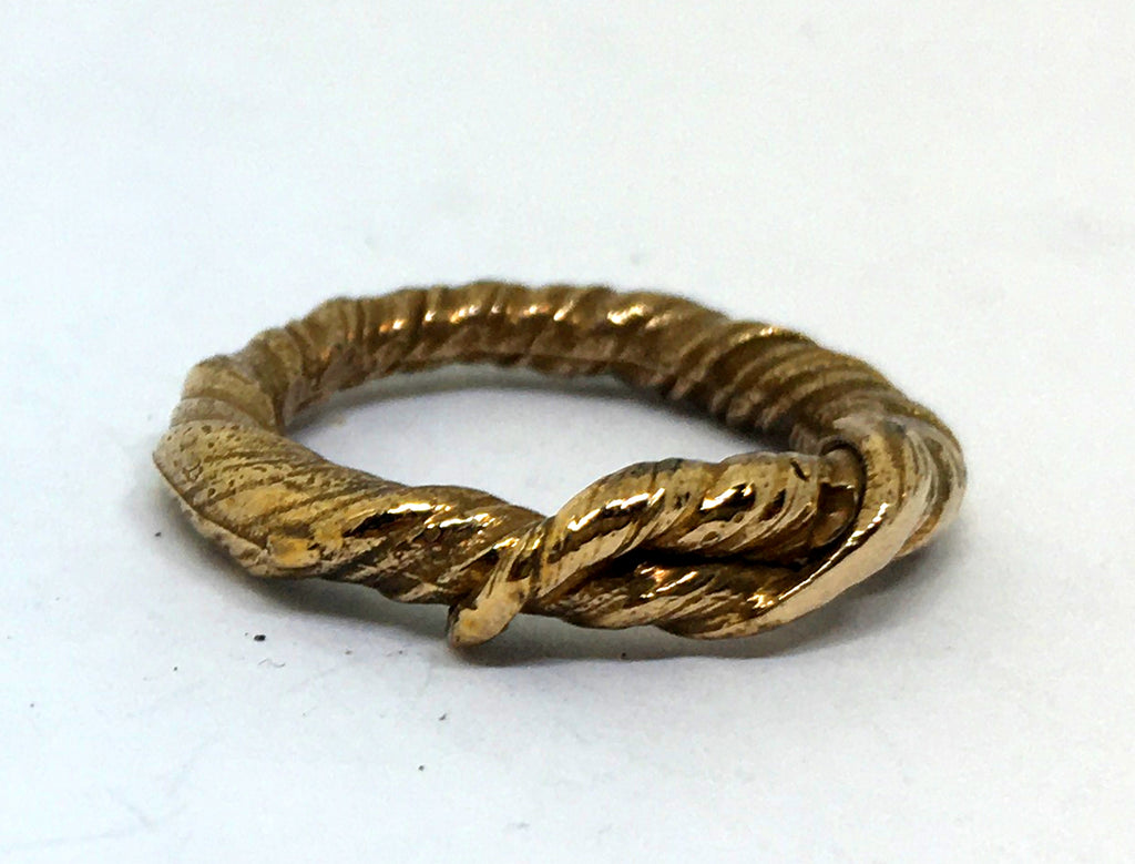 Burnished bronze vine ring in misturo hikime