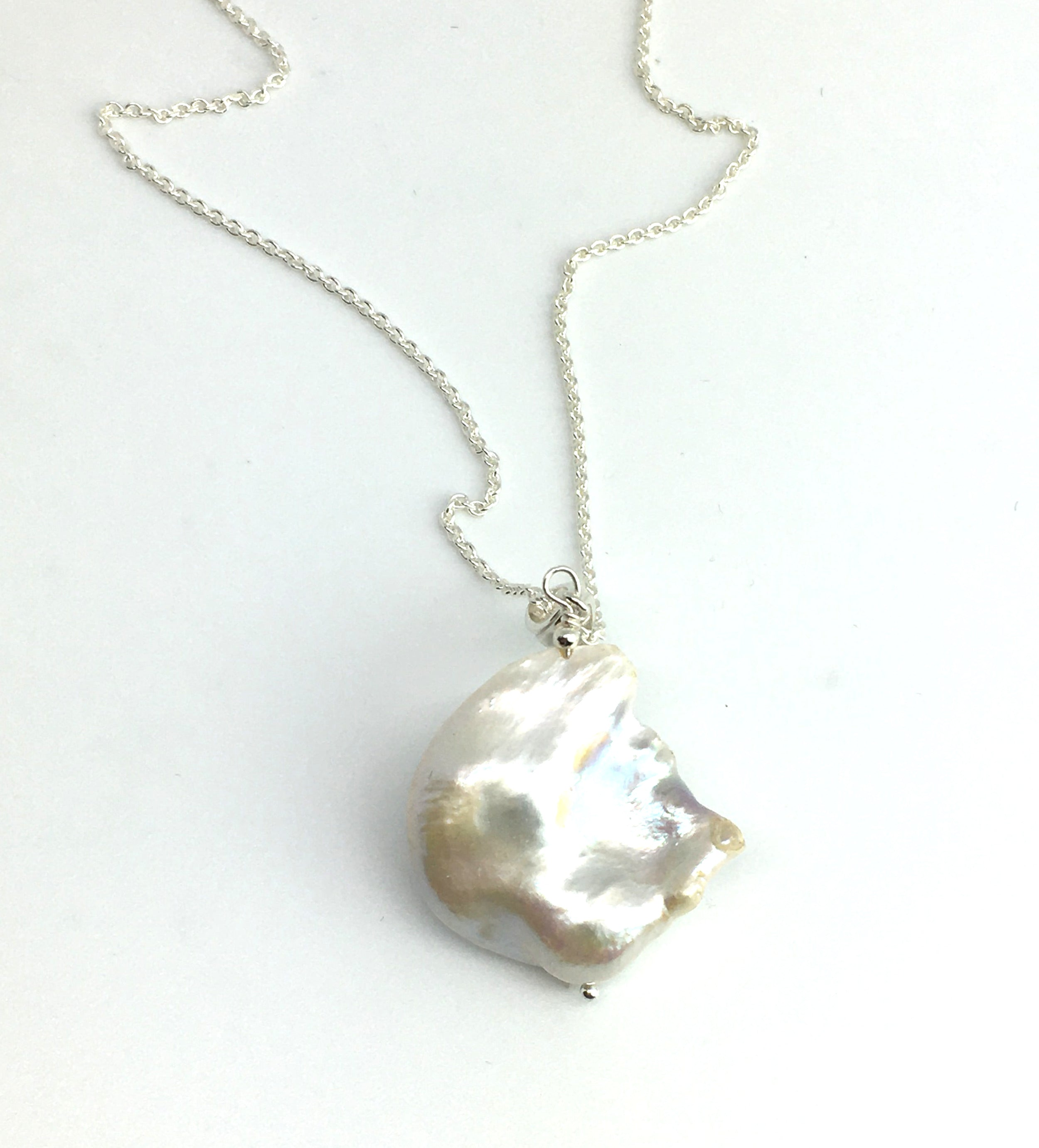 Cobblestone Pearl Pendant Necklace - One of a Kind