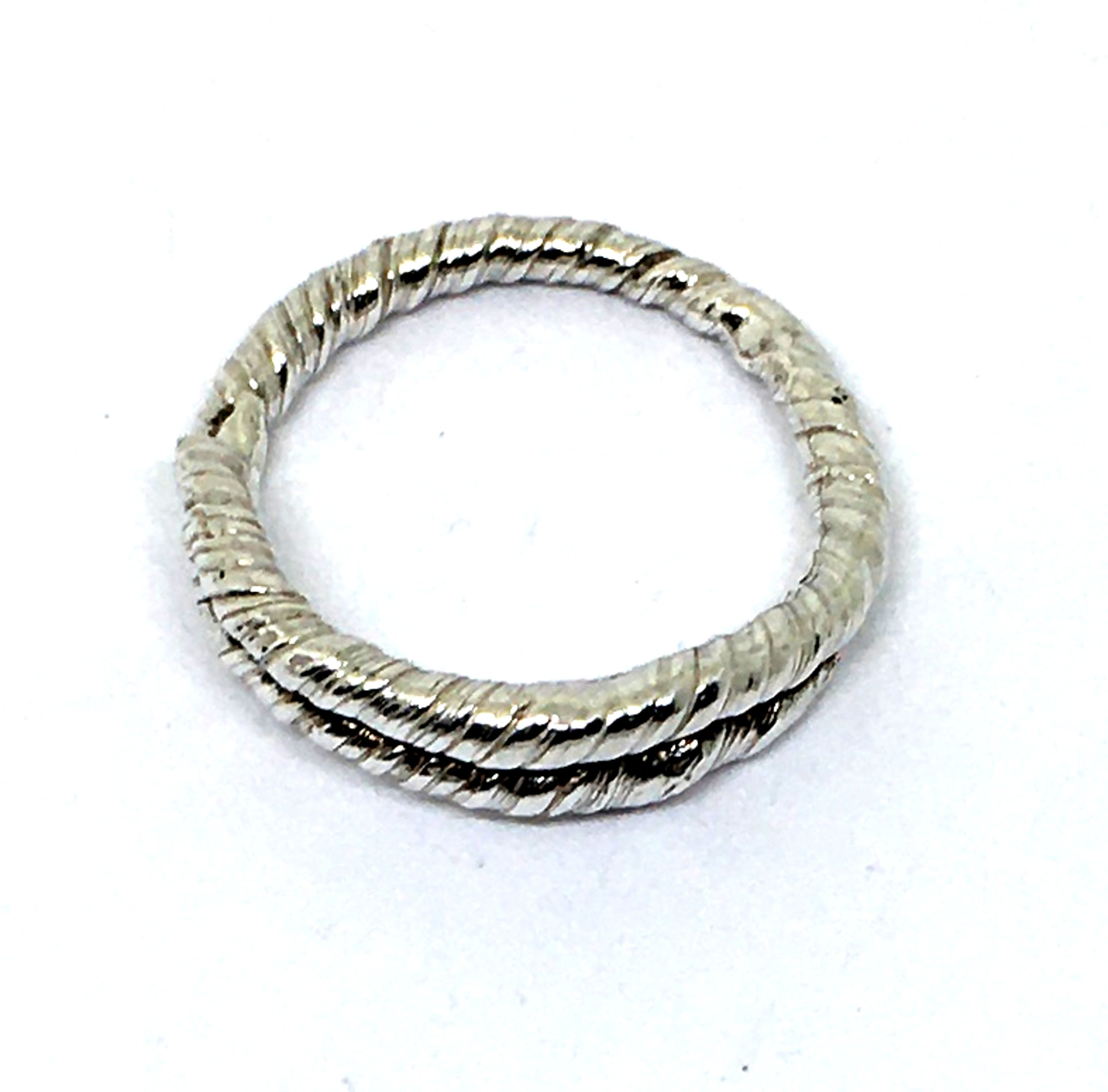 Sterling Silver Twisted Ring - Size 8