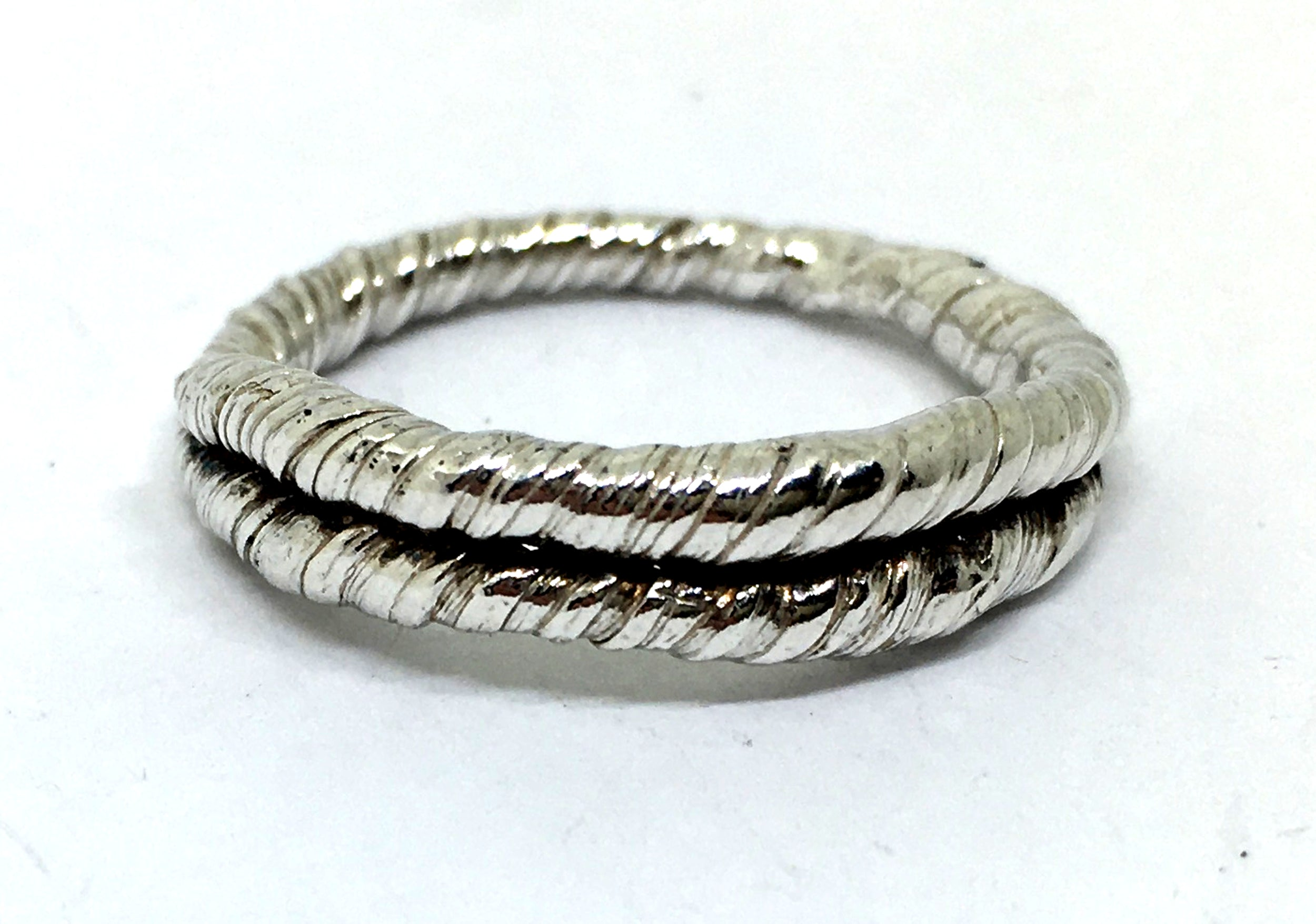 sterling silver twisted rope or vine ring - mitsuro hikime