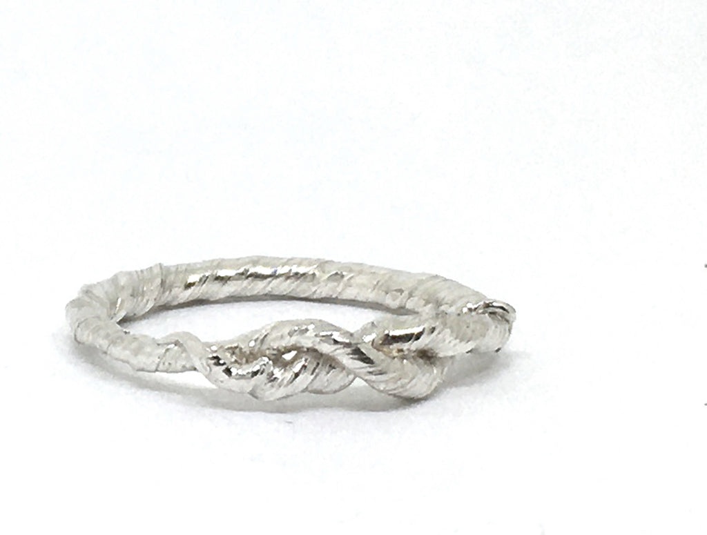 sterling silver twisted vine ring size 8.5