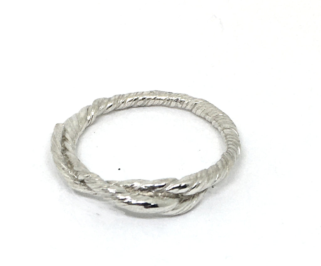 sterling silver double twist ring size 9 mitsuro hikime