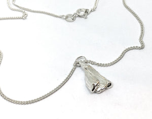 Sterling silver botanically inspired pendant necklace - one of a kind
