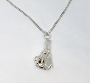 Sterling Silver Mitsuro Hikime Pendant Necklace on Sterling Curb Chain - One of a Kind