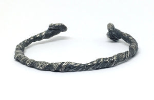 Twisted Rope Cuff In Sterling Silver