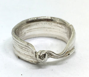 Sterling silver twisted bamboo leaf ring - mitsuro hikime